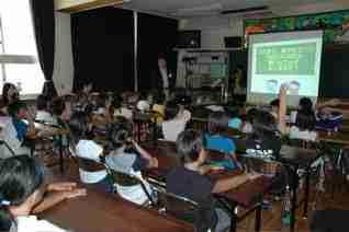 20080703東山東小学校禁煙教育風景1